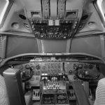 Cockpit der Douglas DC-8-32, HB-IDA der Swissair