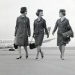 Swissair-Hostessen nach der Landung in Zürich-Kloten