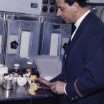 Bordküche einer Douglas DC-8 der Swissair