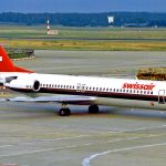 Swissair Fokker 100 HB_IVB Biel_Bienne